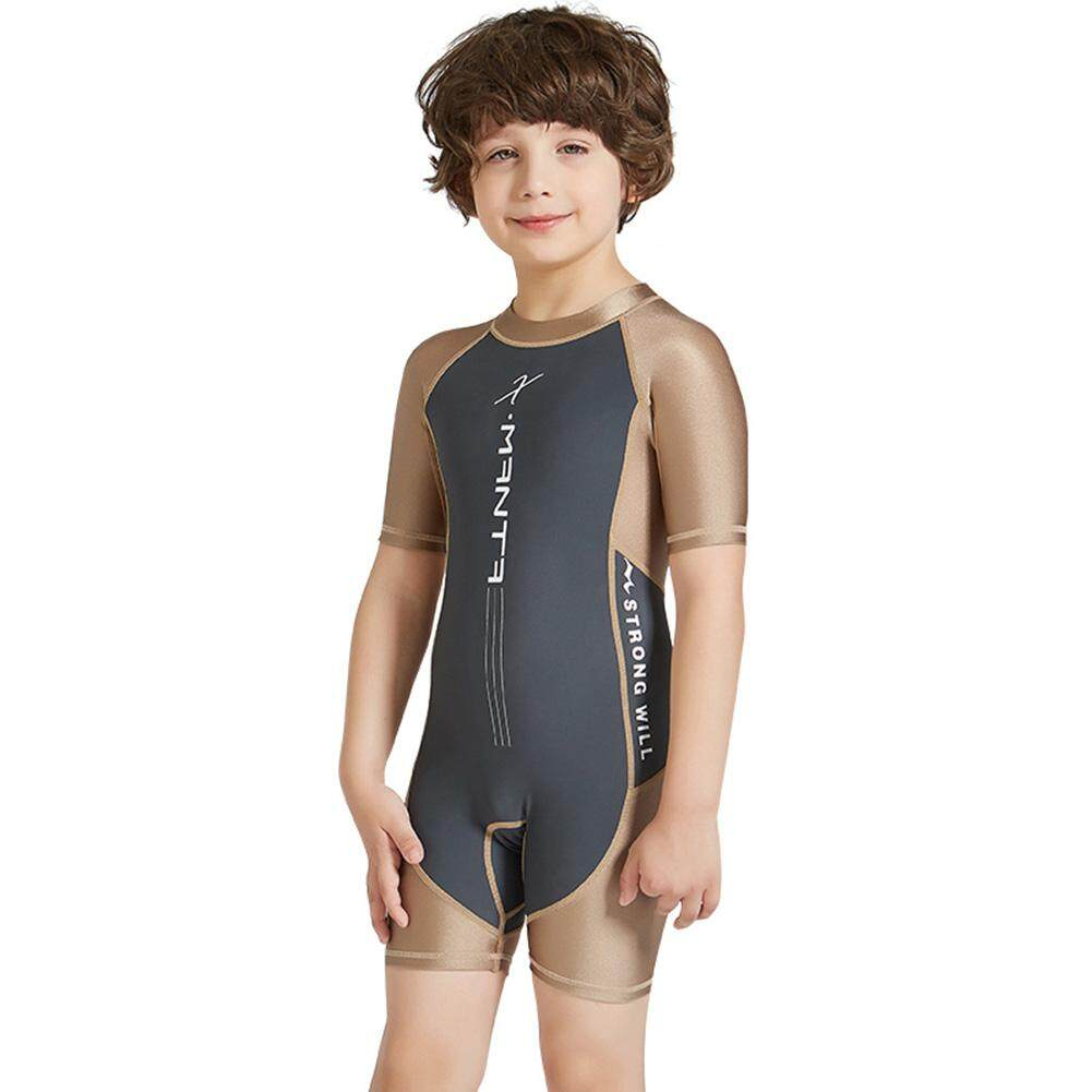 af0e4a4f71 Starmall Baby Kids Unisex One Piece Wetsuit Sunscreen Short Sleeve Short  Shorts Swimsuit For Kids