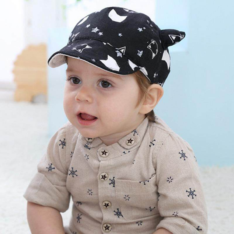 0ab59880e7d Spring Cute Cat Ear Infant Newborn Baby Baseball Cap Summer Sun Hat For Baby  Girls Boys