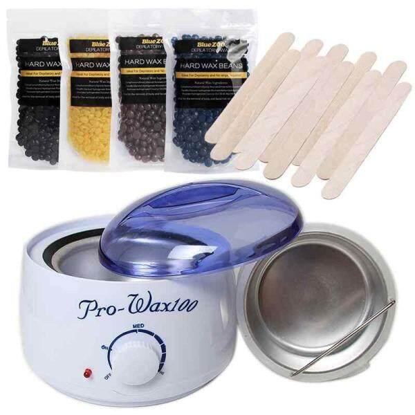 Sway No Stip Depilatory Hard Wax Beans Pellet Hair Removal Hot Film Wax Warmer Pot US Plug - intl tốt nhất