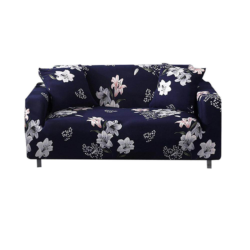 RYT 1 2 3 Seater Printed Flower Floral Elastic Soft Sofa Couch Covers Stretch Slipcover Protector