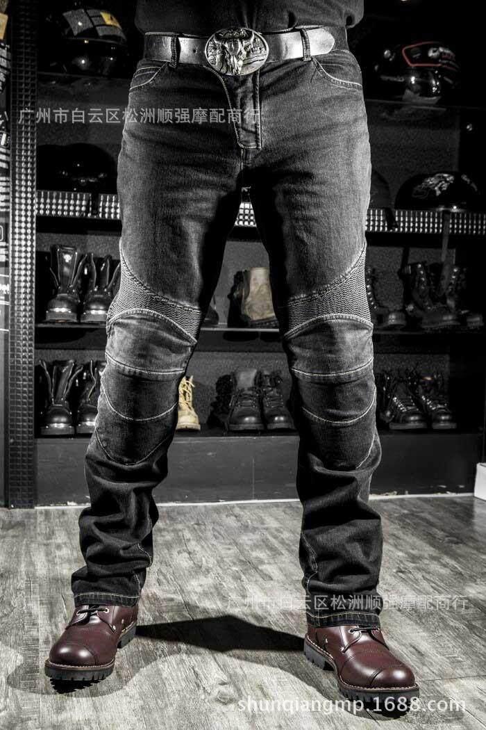 Klasik Motocross Berkuda Knight Celana Balap Celana Kecepatan Jatuh Celana Hump Celana Celana Motor Tua Jeans