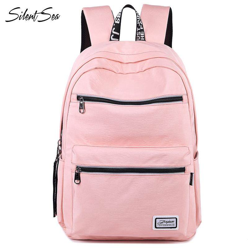 Silentsea Fashion Women Backpack For School Teenagers Girls Casual Shoulder Bags Ladies Pink Backpack Female Bookbag Student Bag