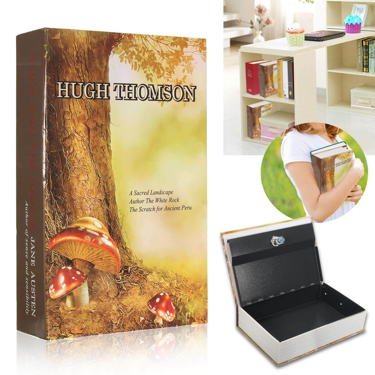 Home Security Dictionary Book Hidden Safe Cash Jewelry Storage Key Lock Box Decor