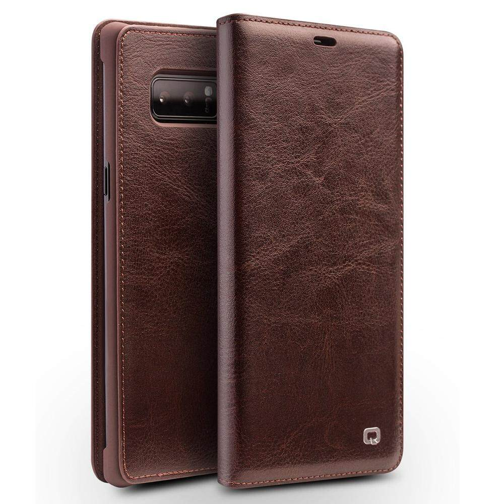 QIALINO Luxury Ultra Slim Genuine Leather Flip Phone Cover for Samsung Galaxy Note 8 - intl
