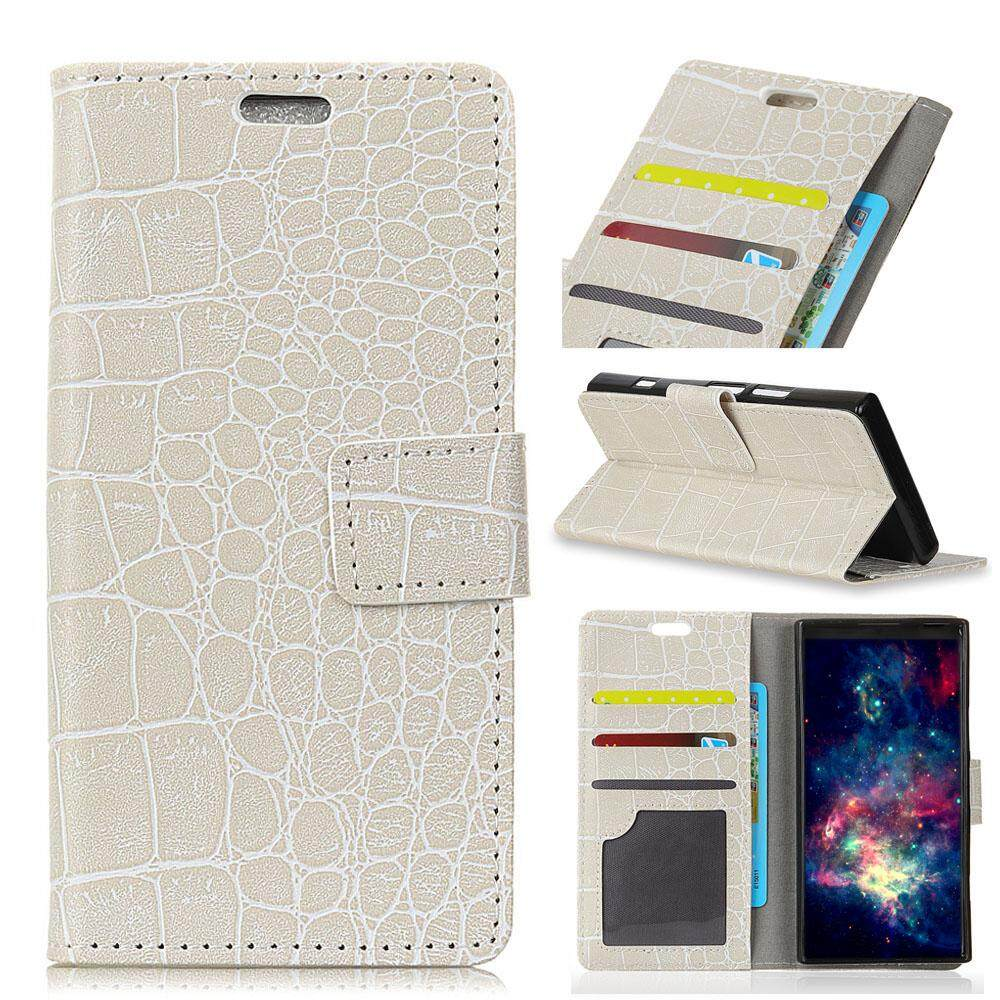 Case for Lenovo K8 Note Crocodile Pattern PU Leather Wallet Case Magnetic Flip Stand Cover with Card Slots Photo Frame - intl