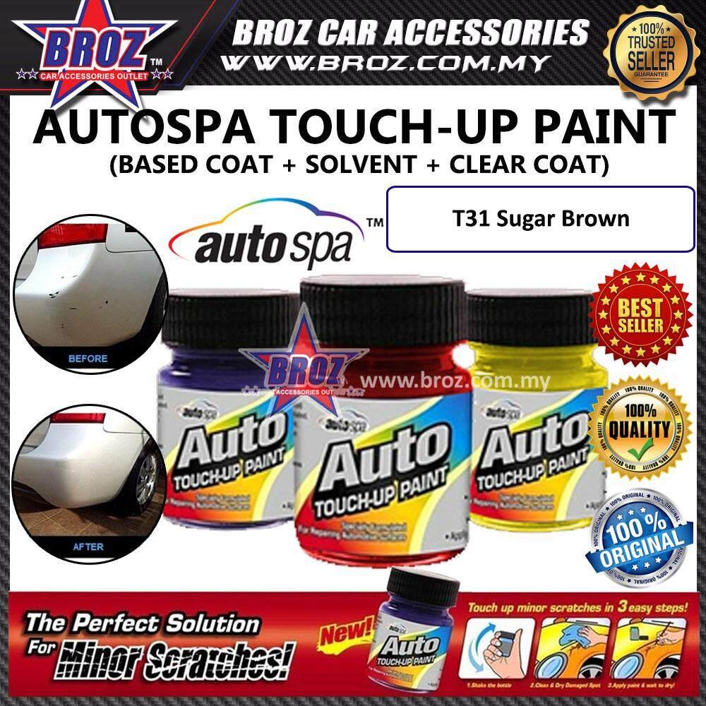 AUTOSPA Touch Up Paint Perodua Bezza 3pcs/Set (Base Coat + Solvent + Clear Coat)