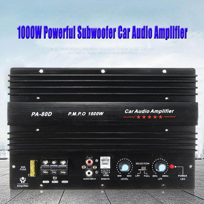12v 1000w Mono Car Audio Power Amplifier Powerful Bass Subwoofers