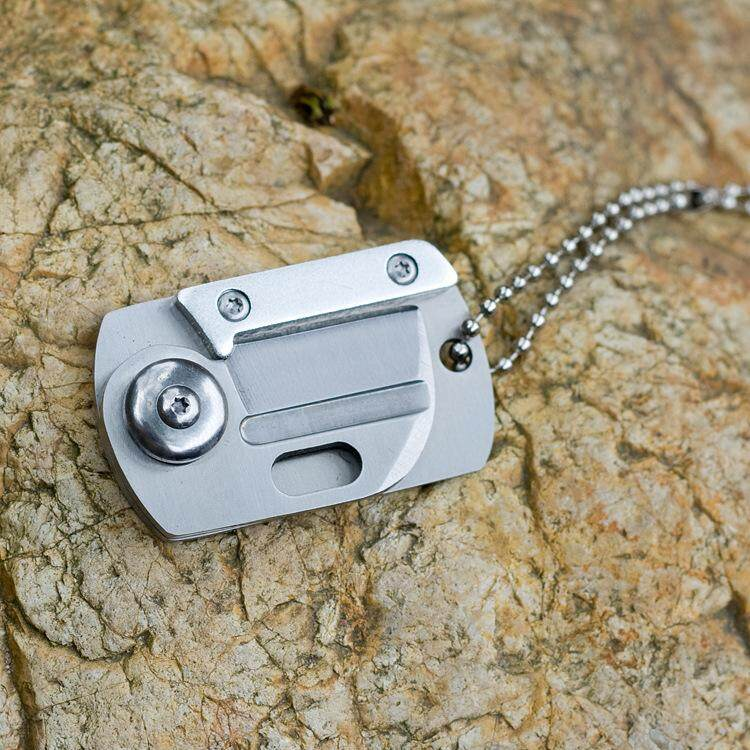 Astounding Mini Dog Tag Knifes Portable Fold Hunting Camping Survival Download Free Architecture Designs Intelgarnamadebymaigaardcom
