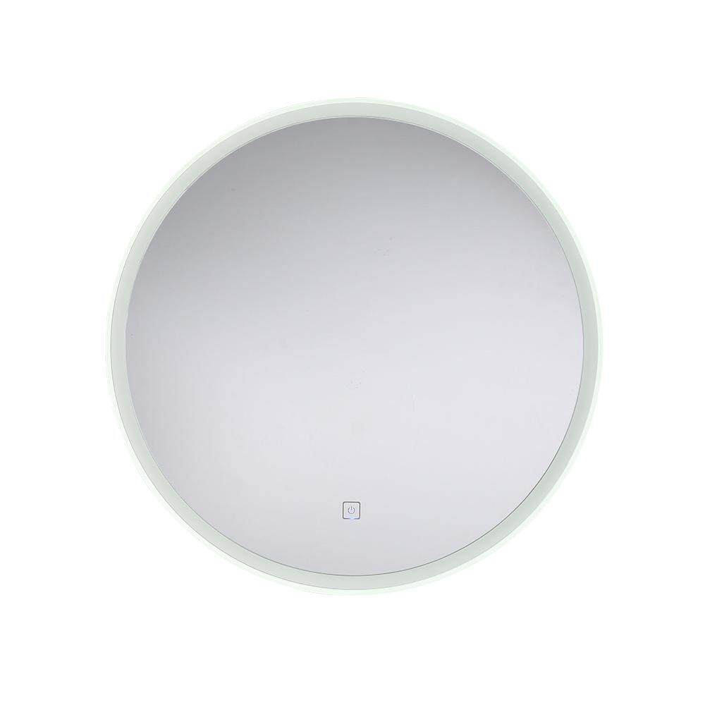 MumoLight Mirror Bathroom Types 530mm Round Shape Simple Modern Design Touch Dimmable