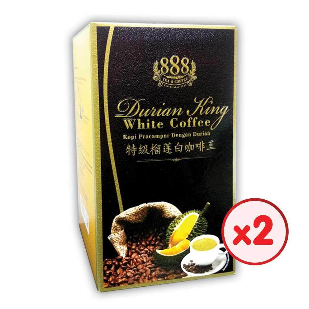 888 3 In 1 Instant Durian King White Coffee (30g x 10 Sticks) - [Bundle of 2]