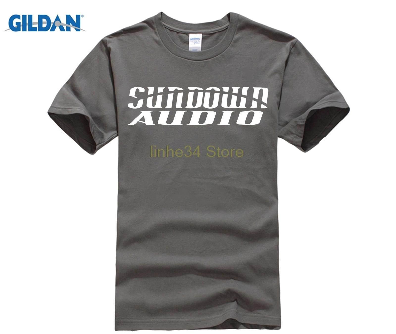 Diy GILDAN SUNDOWN AUDIO T Shirts Men Hip Hop Loud Music Cotton T-shirt Boy 279eb9971155