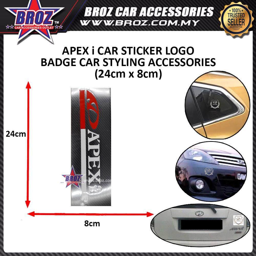 APex-I Logo(Red-white) Car Accessories Body Sticker Auto Decorative Emblem Badge Decals