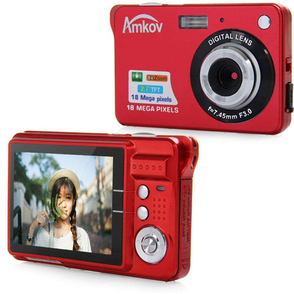 Amkov CDC3 2.7 Inch TFT Screen 18.0MP CMOS 3.0MP Anti-shake Digital Video Camera with 8X Digital Zoom