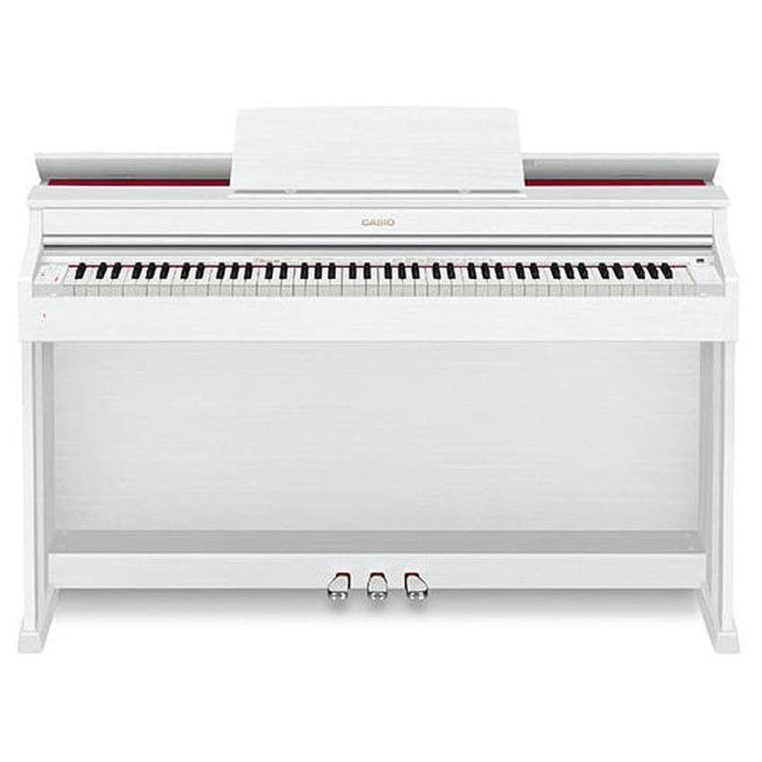 88 Key Casio AP-470 White Celviano Piano AP 470 AP470 Bench Weighted Scaled Hammer Action Tri-Sensor Keys Lvory Touch
