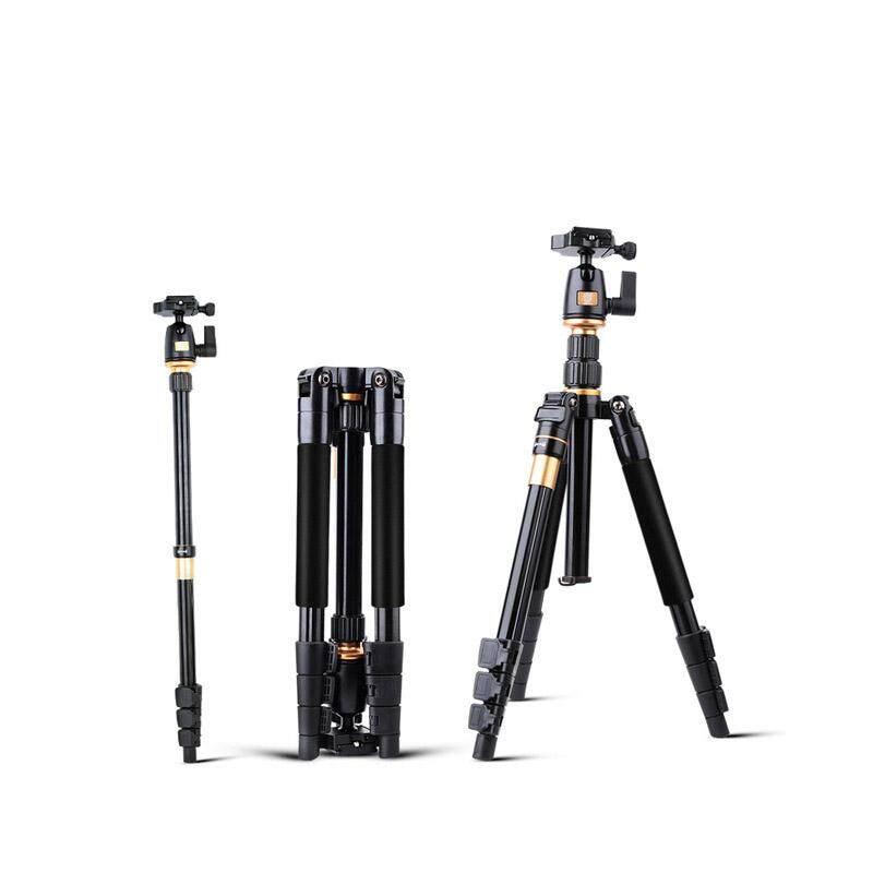 QINGZHUANGSHIDAI Camera Tripod QZSD Q555 Aluminium Alloy Camera Video Monopod Professional Extendable Tripod With Quick Release Plate Stand - intl