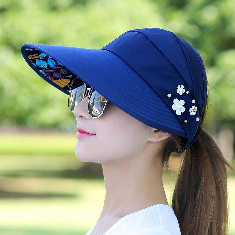 Palight Women Sunhat Beach Uv Protection Anti-Uv Casual Visors Foldable Cap For Outdoor By Palight.