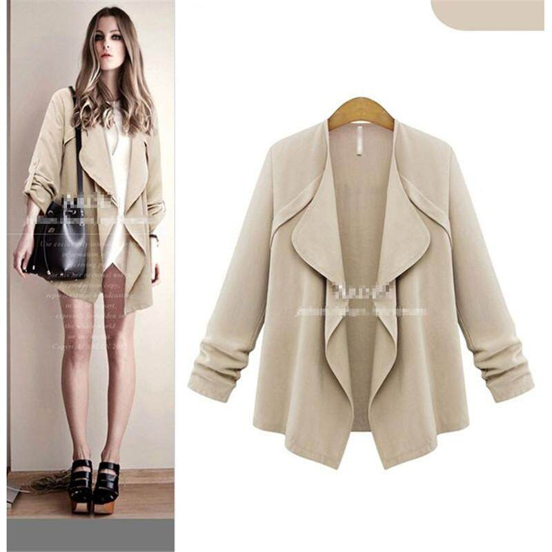 New Women Casual Basic Spring Autumn Thin Jacket Loose Cardigan Fashion - intl