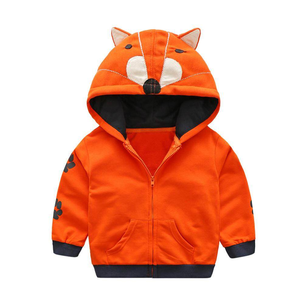 Dotsonshop Free Shipping Infant Toddler Kids Baby Boy Girl Cartoon Animal Hooded Zipper Tops Clothes Coat By Dotsonshop.