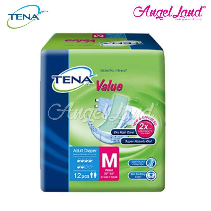 Tena Value Adult Diaper M 12pcs