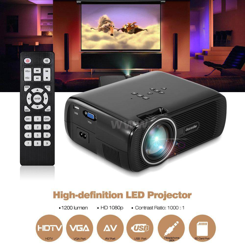 Docooler BL-80 LED LCD Projector 1080P 130