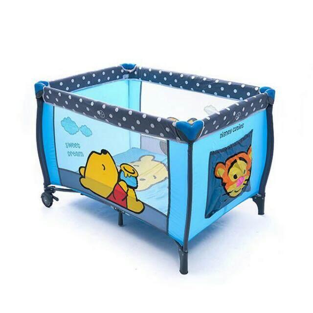 Disney Baby Baby Playpen - Cuties Pooh Blue