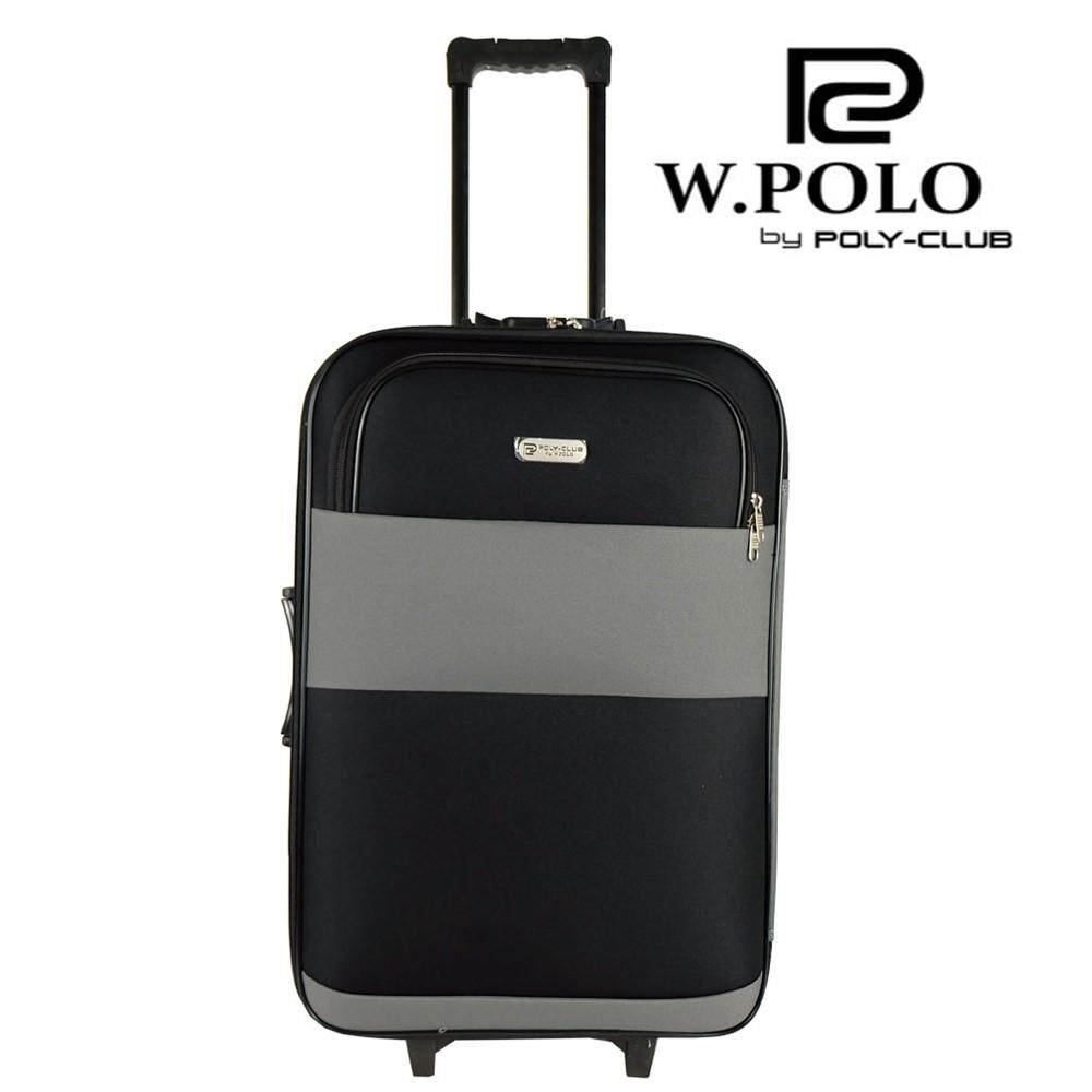 W.Polo BE9819 24inch 2W EVA Softcase Luggage with Middle Roller - Grey/Black