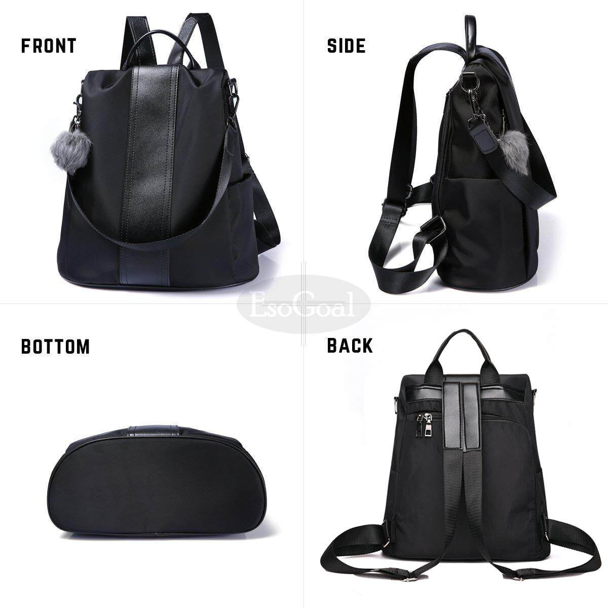 Detail Gambar EsoGoal Tas Ransel Sling Tebal Multifungsi 3in1 Kulit PU  Fashion Korean Style Bagus Branded 0b65fc0d0b