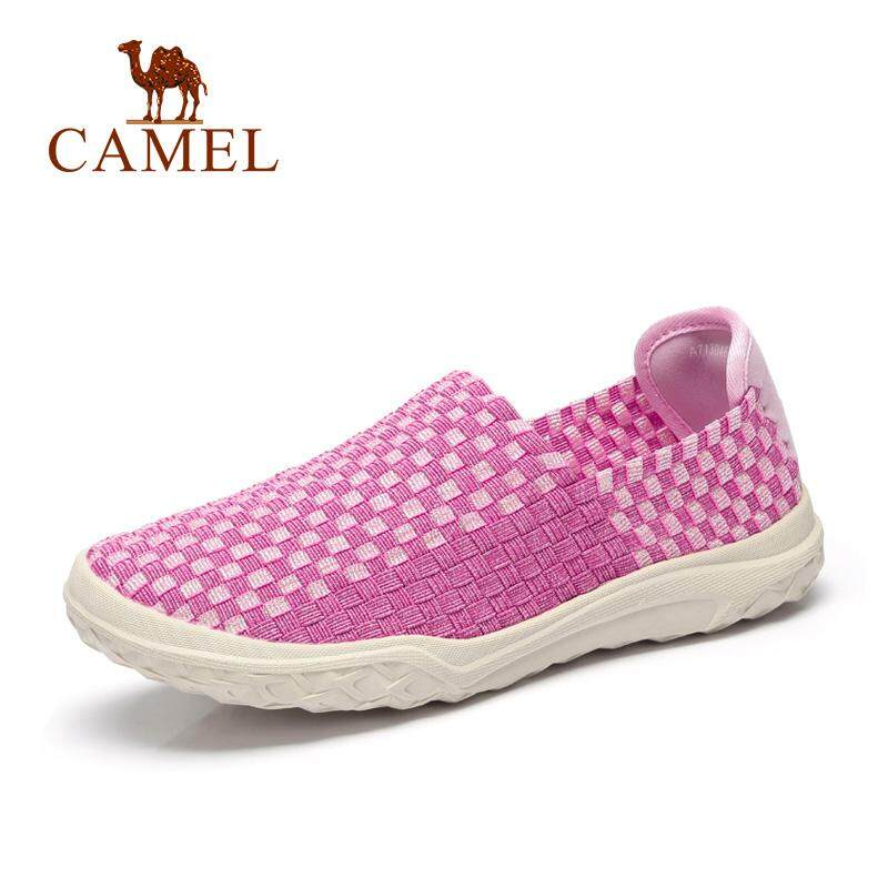 Camel women s shoes lightweight comfortable breathable set foot fashion  woven shoes casual shoes flat shoes walking e600d6afa1