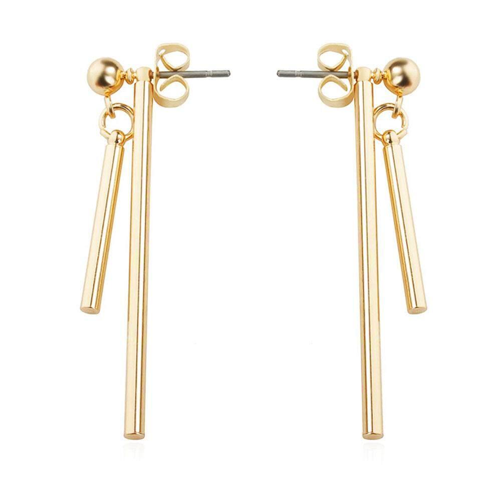 Dangle Earrings Ear Studs Elegant Gold Silver Geometric Jewelry Christmas - intl
