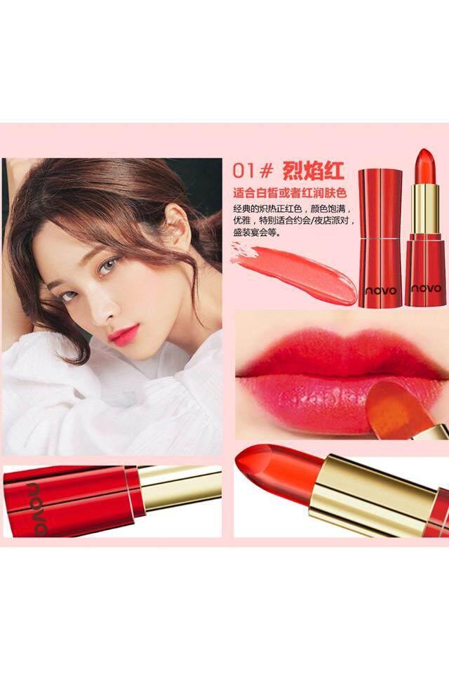 【Flames 01】jelly Lipstik Kelembaban Abadi Tidak Penghilangan Warna Tahan Air Wanita Hamil Riasan Telanjang Warna Lipstik Mahasiswa Bibir Menggigit Makeup-Intl