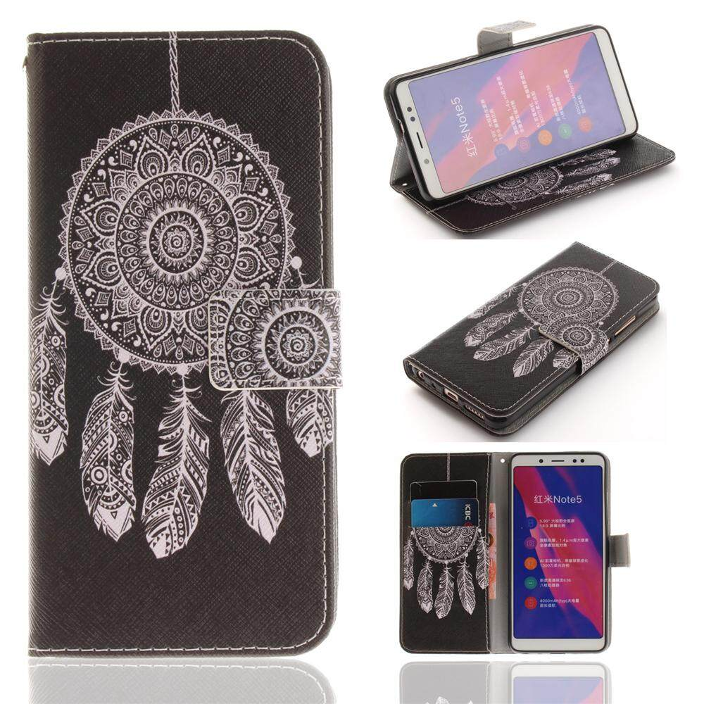 AS Beauty Phone Case for Xiaomi Redmi Note 5 PU Leather Case Flip Stand Cover Wallet Card Slots wit