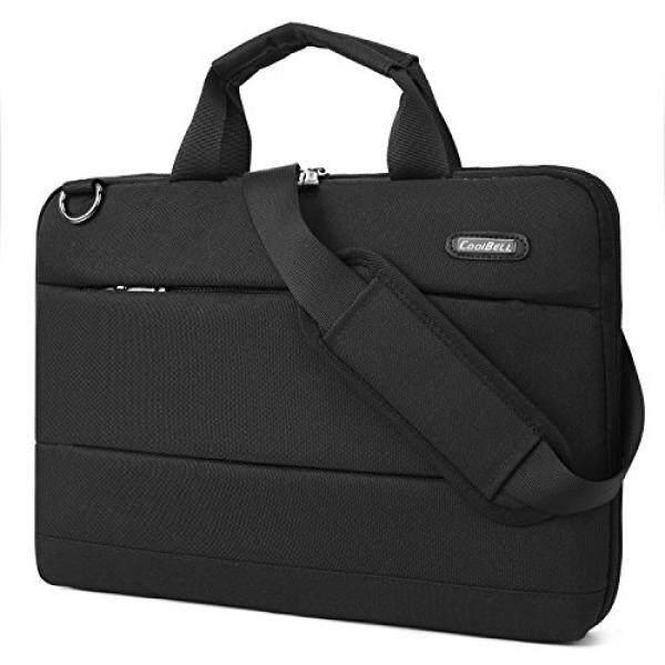 Laptop Briefcases CoolBELL Laptop Shoulder Bag 15.6 inch Messenger Bag Lightweight Sleeve Bag Slim Briefcase Nylon Protective Handbag For HP / Acer / Macbook / Asus / Lenovo / Laptop / Ultra-book / Men / Women (Black) - intl