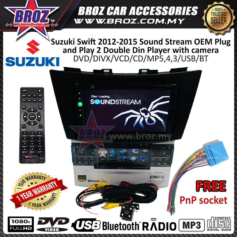 Swift 2012-15 SoundStream OEM Plug and Play DVD/USB 2 Double Din Player +Camera