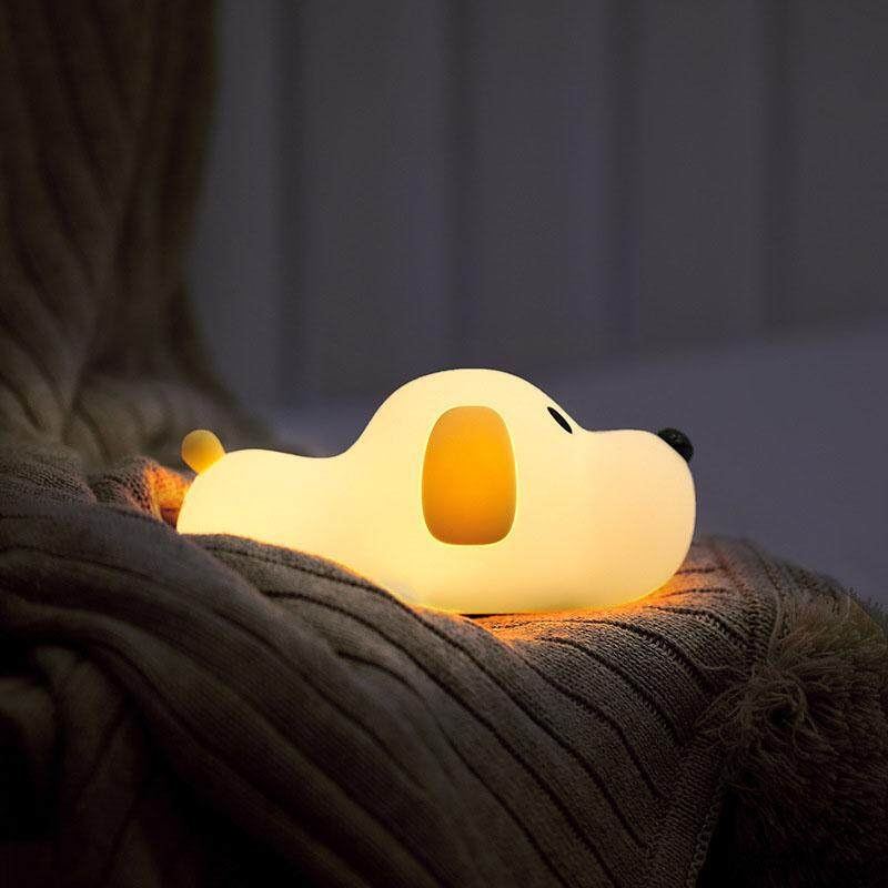 Hiqueen Cute Cartoon Dog Shape Patting Lamp USB Chargeable Night Light Home Office Decoration Specification:cute dog Power:2W Singapore