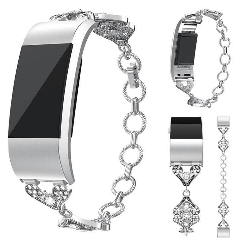Gracekarin Online Band Metal Pergelangan Tangan Tali Jam Gelang untuk Fitbit Charge 2