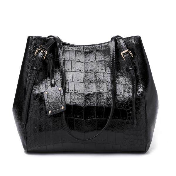 Royal Bagger New European Fashion Tote Bag Big Crocodile Pattern Leather Shoulder Sling Bag Handbag For Women
