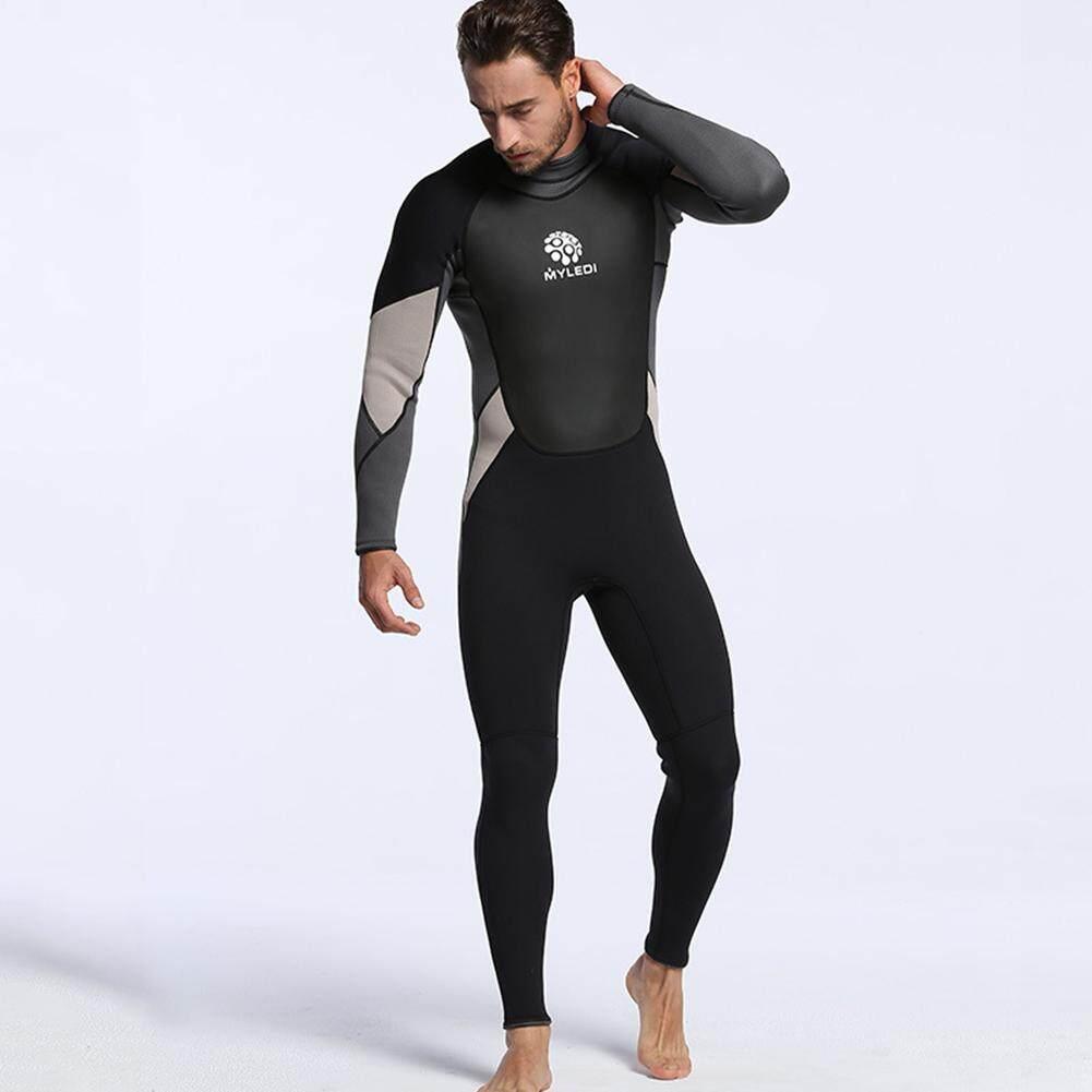Men Wetsuits Super-stretch Armpit Jumpsuit 3mm Neoprene Full Body Diving  Suit Rash Guard Long c322d3182