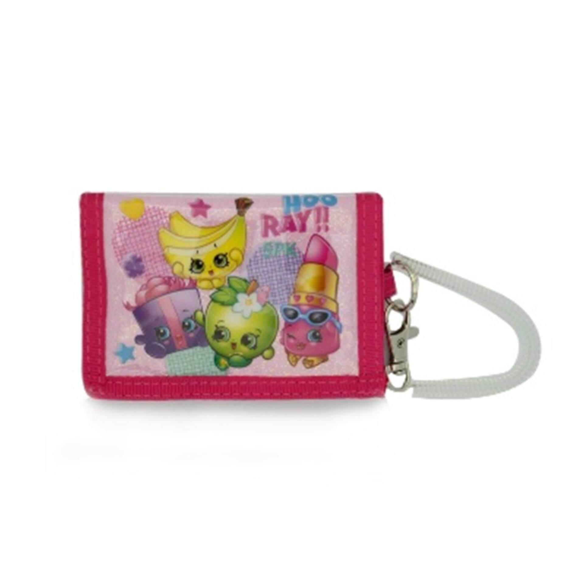 shopkins 2 fold wallet pink colour