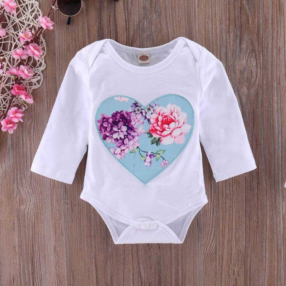 ... Baru Lahir Anak-anak Bayi Gadis Bunga Jumpsuit Romper + Rok + Ikat Kepala 3 ...