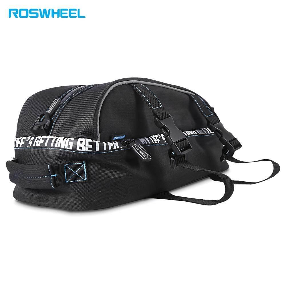 Roswheel Tas Sepeda Bike Waterproof Bag With Smartphone 8l Double Deck Rear Seat Rack Pack Two Layer Bicycle Shelf Pocket Shoulder