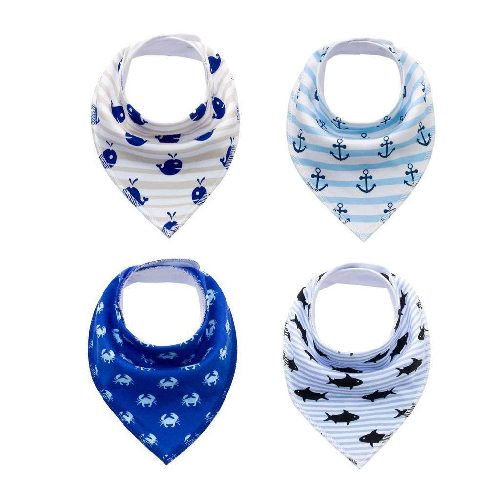 Bigood 4-Pack Baby Girl Boys Cotton Bandana Drool Bibs For Drooling And Teething By Bigood Online.