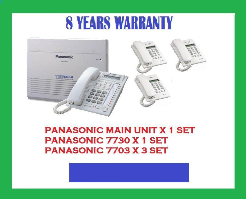 PANASONIC KEYPHONE SYSTEM KX-TES824 PACKAGE ( 8 YEARS WARRANTY )