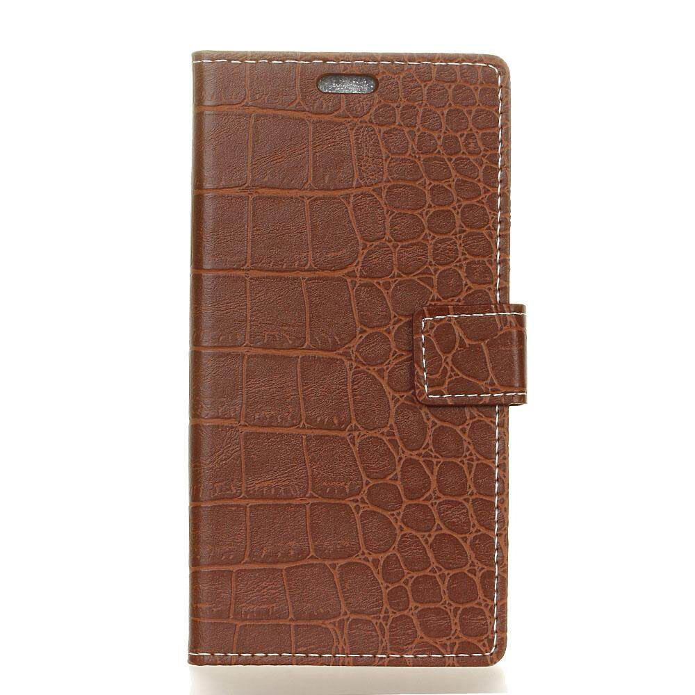 Case for Alcatel U5 3G (5.0 inch) Crocodile Pattern PU Leather Wallet Case Magnetic Flip Stand Cover with Card Slots Photo Frame - intl