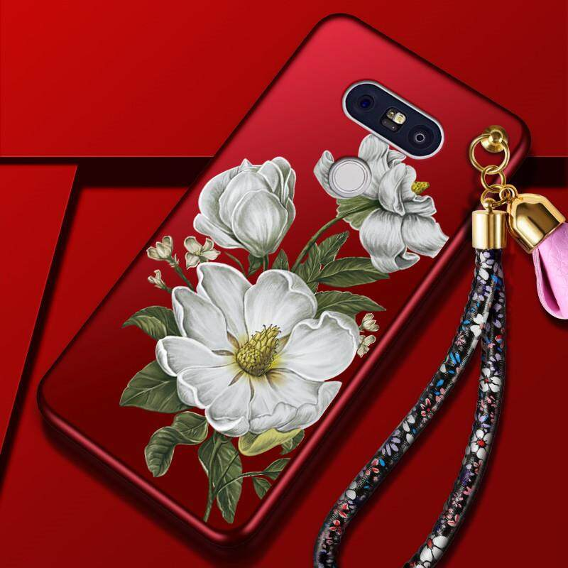 """For LG G5 5.3 """" inch Luxury 3D Flowers Soft Back Cover Silicone Case Shell Cell"""