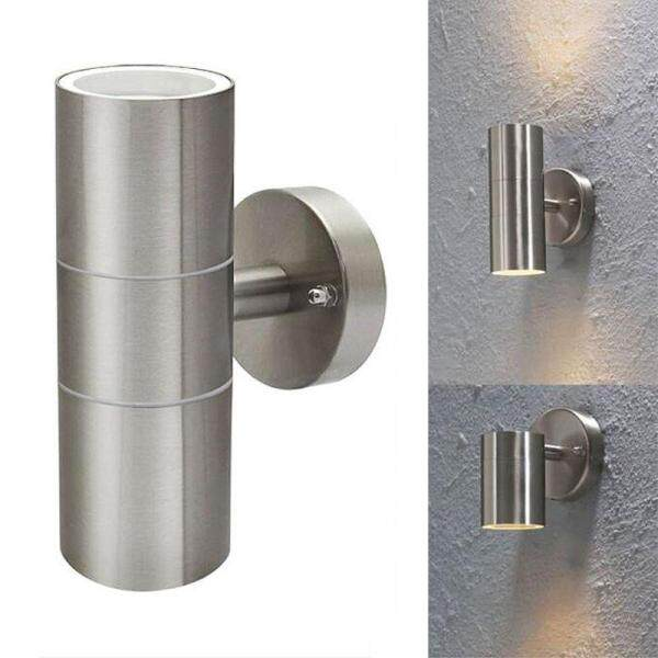 New Stainless Steel Up Down Wall Light GU10 IP65 Double Outdoor Wall Light - intl