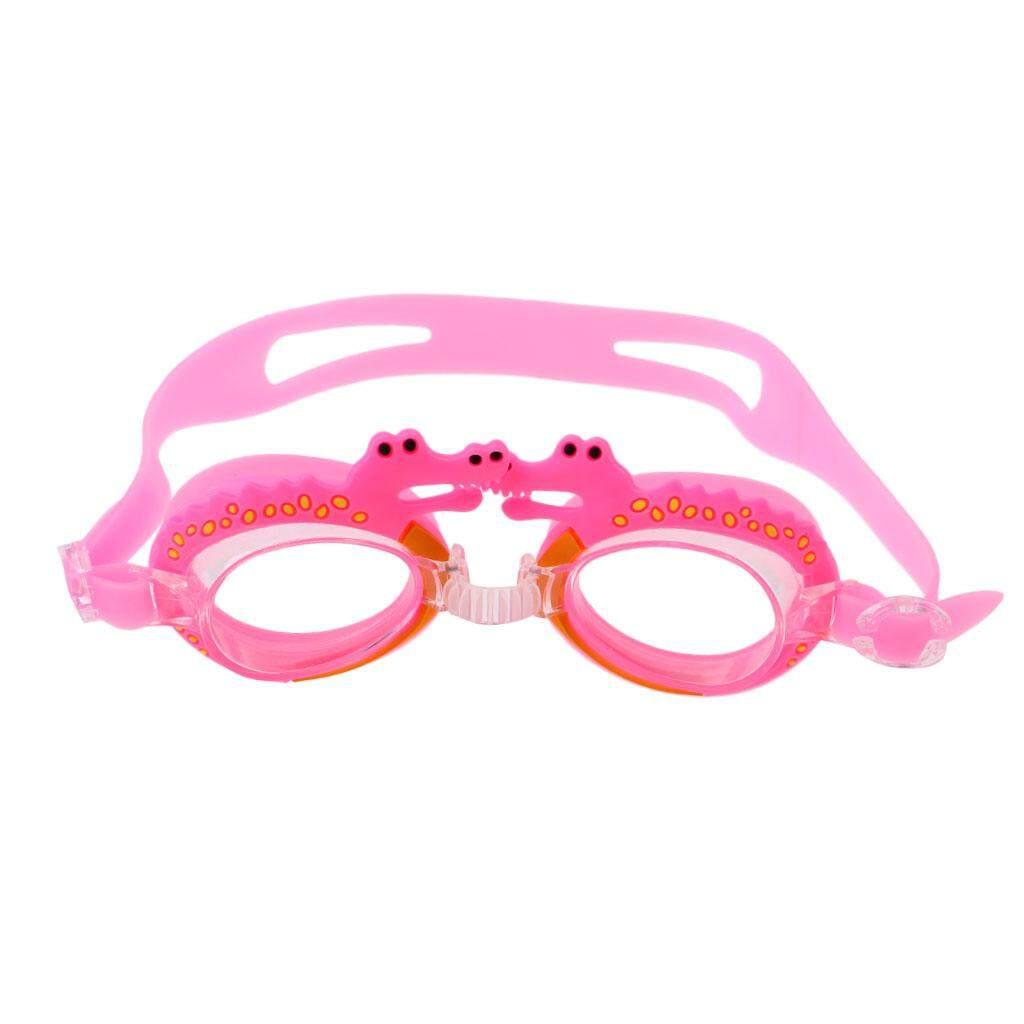 a2ecf00a16 Flameer Cartoon Kids Goggles Anti Fog UV Protection Swim Glasses Pink  Crocodile