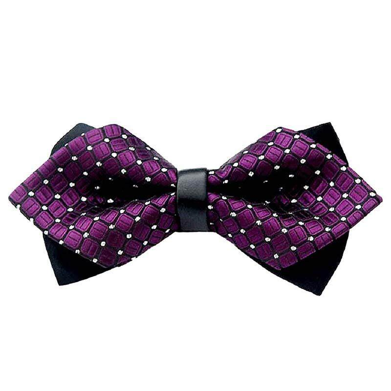 Unisex Bow Tie Tie - Bow Tie Adjustable For Party - Fashion Wedding Fancy Bow Tie (purple) - Intl By Sunnny2015.
