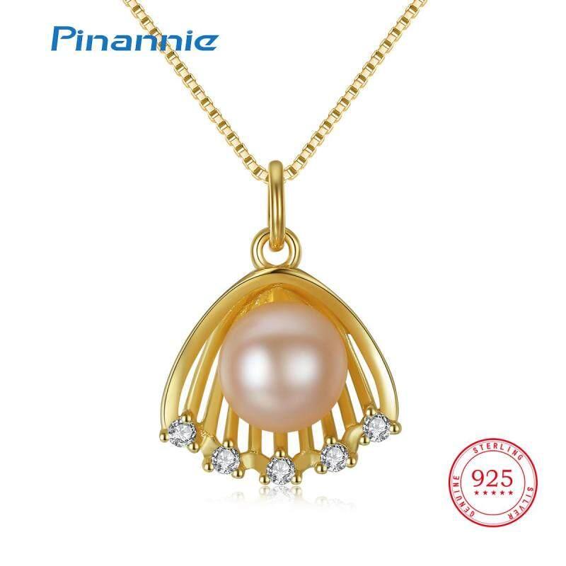 Pinannie Vòng cổ nữ bạc 925 Mạ vàng trắng Ngọc trai nước ngọt Trang sức cao cấp thời trang