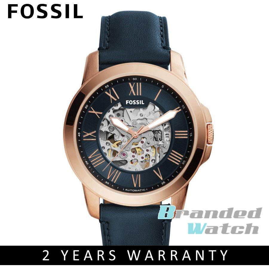 Fossil ME3102 Men's Grant Automatic Blue Leather Watch