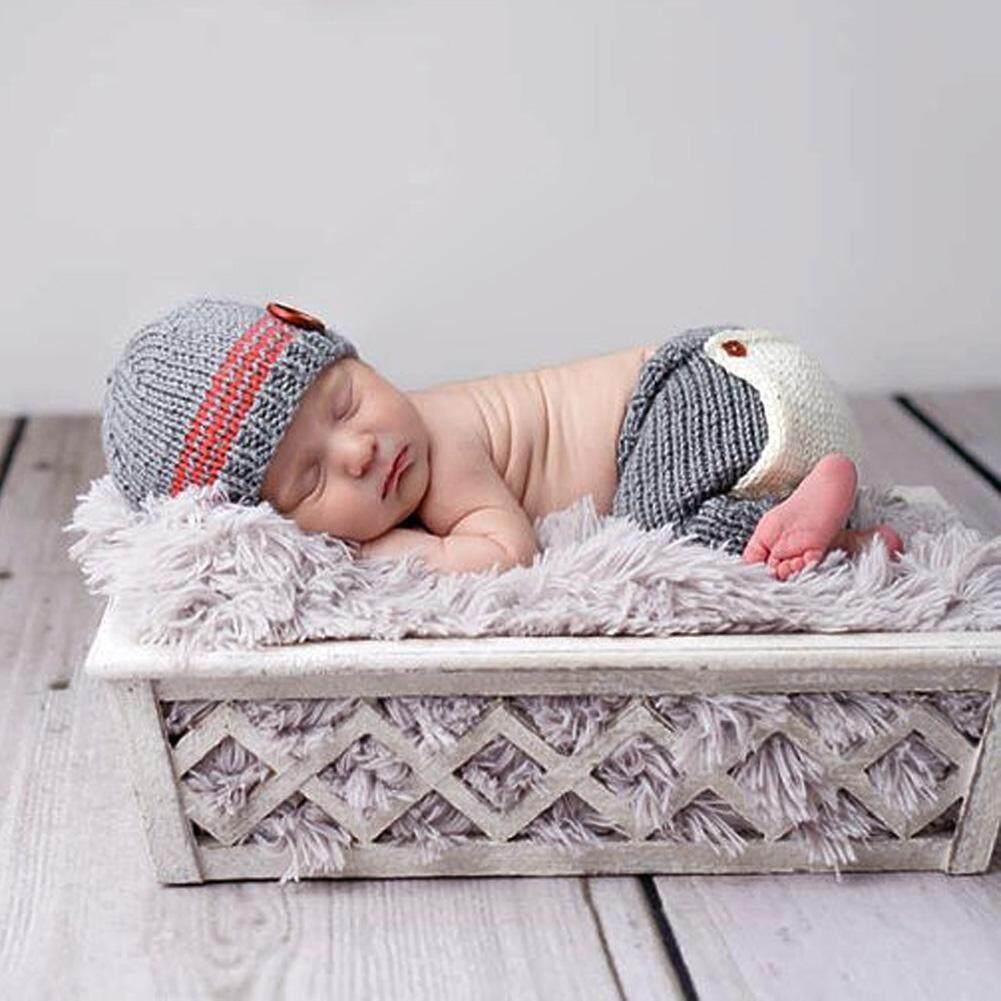 f7e11450b Baby Newborn Photography Props Accessories Crochet Knit Costume Crochet Baby  Hat Caps Photo Props Fotografia Newborn
